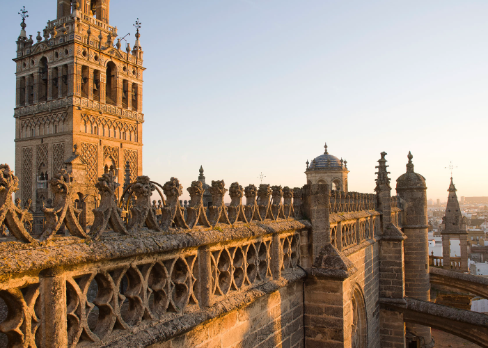 You can climb the Giralda tower inside for a magnificent view of the city.