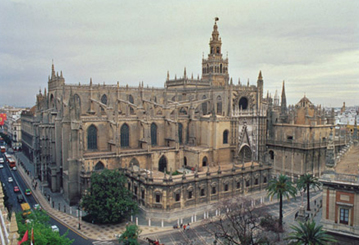 Seville's cathedral is one of the largest in the world